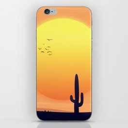 Desert Landscape setting sun. iPhone Skin