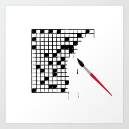 Crossword Art Print