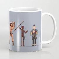 conan Mugs featuring Conan the Pixelated by 84Nerd