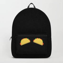 Funny Tacos Boobs Top Bra print for Mexican Woman Backpack