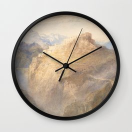 """J.M.W. Turner """"Fort of L'Essillon, Val de la Maurienne, France"""" Wall Clock"""