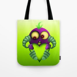 Lovey Dovey Purple People Eater Tote Bag