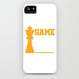 Game On Chess Match Player Grandmaster iPhone Case