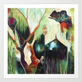 """Temple Lilies"" Original Painting by Flora Bowley Art Print"