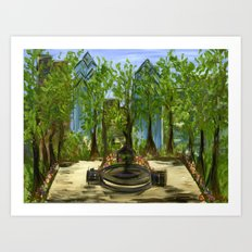 Rittenhouse Square in the Spring Art Print