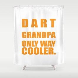 Darts Grandpa Gift Senior Darts Player Shower Curtain
