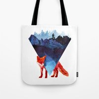 road Tote Bags featuring Risky road by Robert Farkas