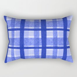 Tissue Paper Plaid - Blue Rectangular Pillow