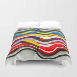 Colored Waves Duvet Cover