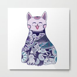 Touchy Cat Metal Print