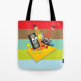 80's explosion Tote Bag