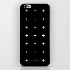 White Plus on Black /// www.pencilmeinstationery.com iPhone & iPod Skin