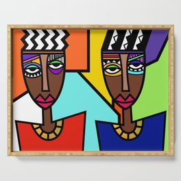 African Beauties  Serving Tray