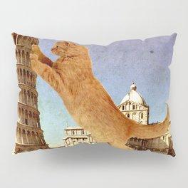 GIANT KITTEN IN PISA Pillow Sham