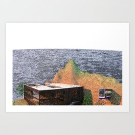 My 90's Pixel Island Art Print