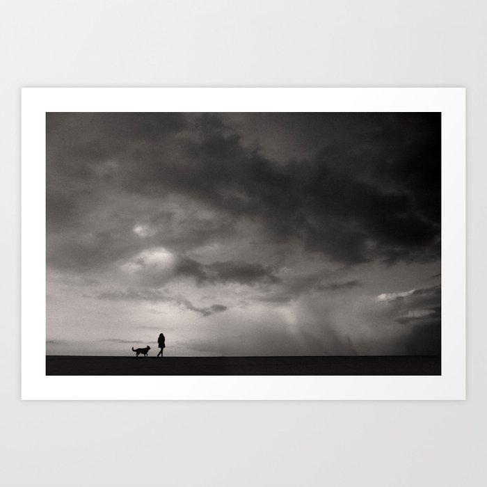 Before storm Art Print