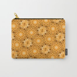 Peach Vintage Floral Carry-All Pouch