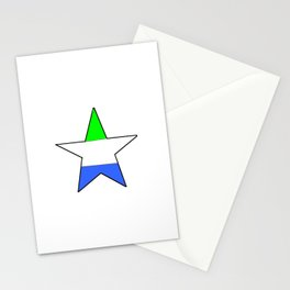 Flag of sierra leone 5 -salone,Sierra Leonean,Leone,Sierra Leona,freetown. Stationery Cards