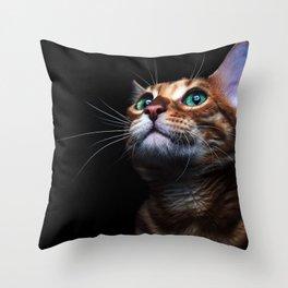 Contemplating Throw Pillow