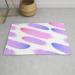 Colorful seamless feather vector pattern Rug