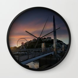 Torquay Harbour At Sunset Wall Clock