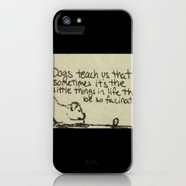 Dog Lessons iPhone Case