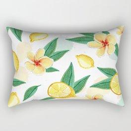 Floral Lemon Splash Rectangular Pillow