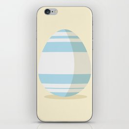 Easter egg with stripes iPhone Skin