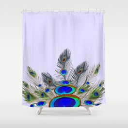 GREEN PEACOCK FEATHER & JEWELS #2 Shower Curtain