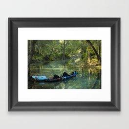 Kayak in the Spring Framed Art Print