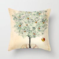 tree of life Throw Pillows featuring Life Tree by Paula Belle Flores