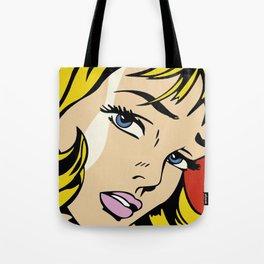 A vectorized Lichtenstein Tote Bag