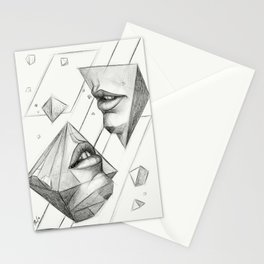 Surreal Geometry Shapes Stationery Cards