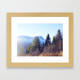 Närvik Mountains and Forest Framed Art Print