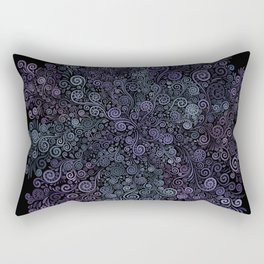 3d Psychedelic Violet and Teal Rectangular Pillow