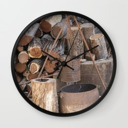 The Camp Fire Wall Clock