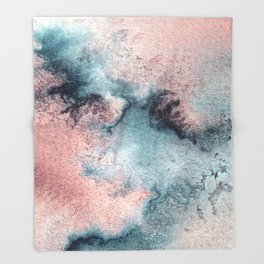 Pink and Blue Oasis Throw Blanket