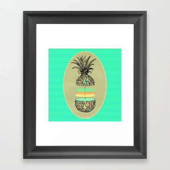 Sliced pineapple Framed Art Print