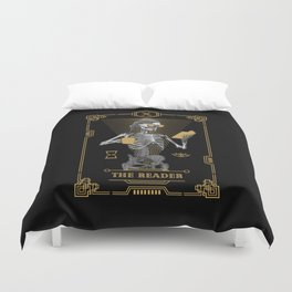 The Reader X Tarot Card Duvet Cover