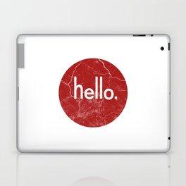 Hello - Red Laptop & iPad Skin