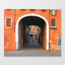 Back Alley in Venice Canvas Print