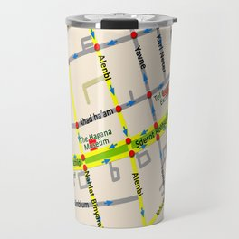 Tel Aviv map - Rothschild Blvd. Travel Mug