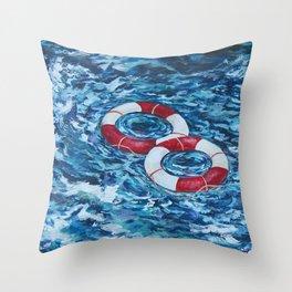 Two Lifesavers Throw Pillow