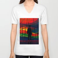 eternal sunshine of the spotless mind V-neck T-shirts featuring Imprisoned Mind by Rendra Sy