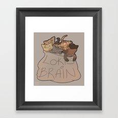 Loki's Brain Framed Art Print