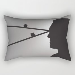 The Prisoner is Being Tested Rectangular Pillow
