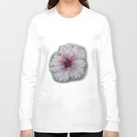 hibiscus Long Sleeve T-shirts featuring Hibiscus by Allison Langston
