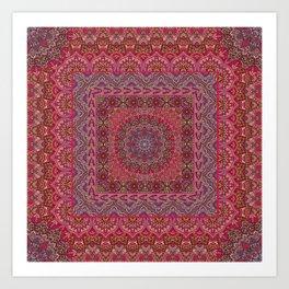Farah Squared Red Art Print