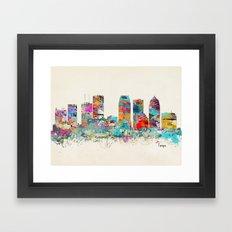 Tampa Florida skyline Framed Art Print