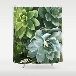 Succulent Succulents Shower Curtain